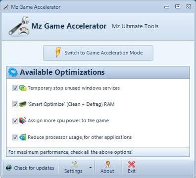 Thinpo - Ücretsiz Oyun Hızlandırıcı ve Sistem İyileştirici Programlar