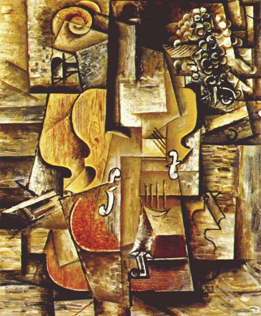 Keman ve Üzümler, Picasso 1912